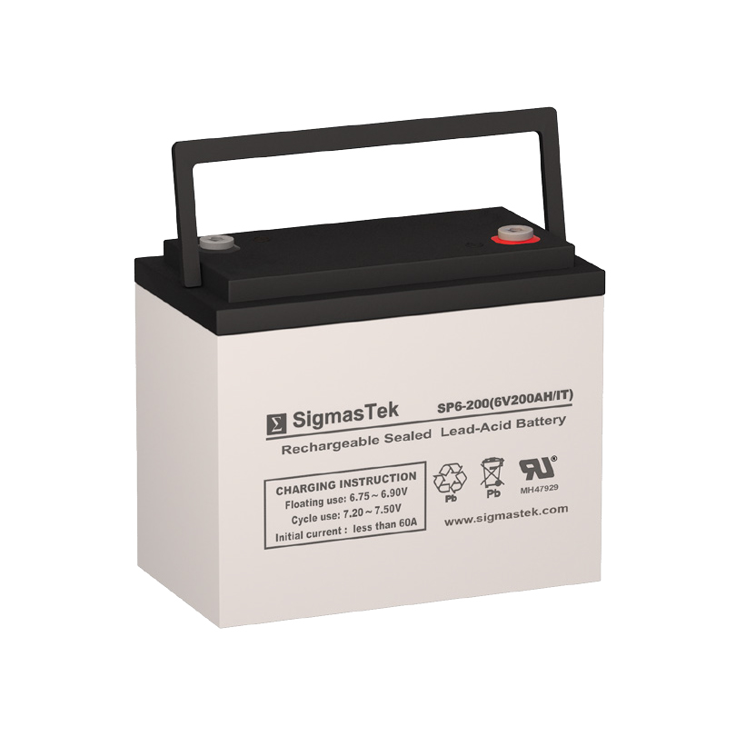 6 Volt 200 Amp Hour Sealed Lead Acid Battery Replacement with IT Terminals by SigmasTek SP6-200
