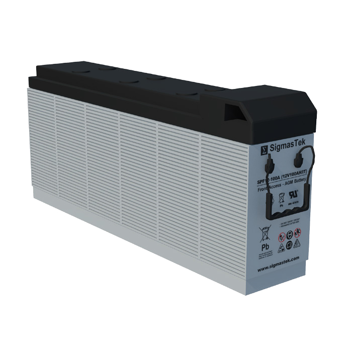 12 Volt 100 Amp Hour Sealed Lead Acid Battery Replacement with IT Terminals by SigmasTek SPF12-100A