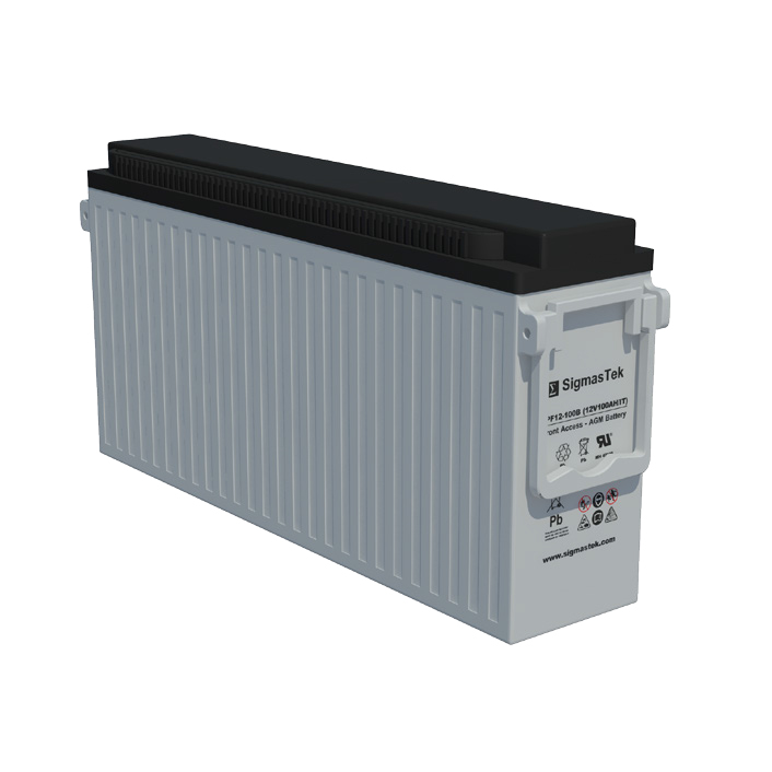 12 Volt 100 Amp Hour Sealed Lead Acid Battery Replacement with IT Terminals by SigmasTek SPF12-100B
