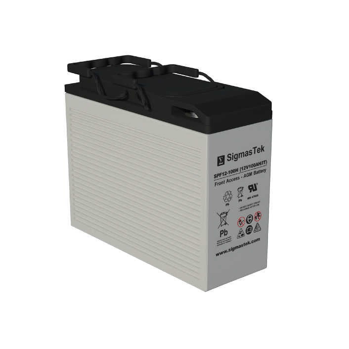 12 Volt 100 Amp Hour Sealed Lead Acid Battery Replacement with IT Terminals by SigmasTek SPF12-100H