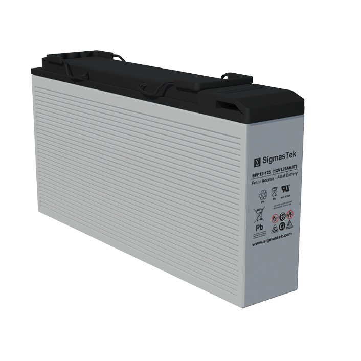 12 Volt 125 Amp Hour Sealed Lead Acid Battery Replacement with IT Terminals by SigmasTek SPF12-125