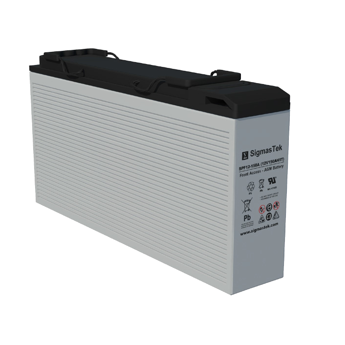12 Volt 144.8 Amp Hour Sealed Lead Acid Battery Replacement with IT Terminals by SigmasTek SPF12-150A