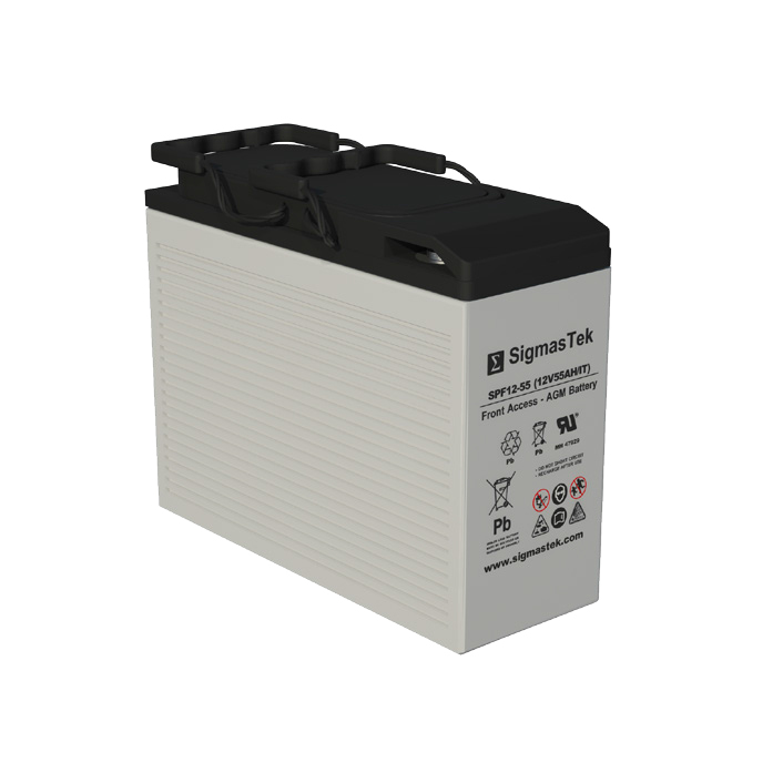 12 Volt 50 Amp Hour Sealed Lead Acid Battery Replacement with IT Terminals by SigmasTek SPF12-55