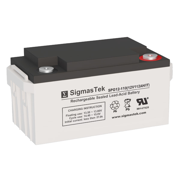 12 Volt 112 Amp Hour Sealed Lead Acid Battery Replacement with IT Terminals by SigmasTek SPG12-110