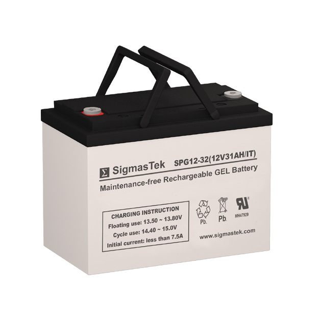 12 Volt 31 Amp Hour Sealed Lead Acid Battery Replacement with IT Terminals by SigmasTek SPG12-32