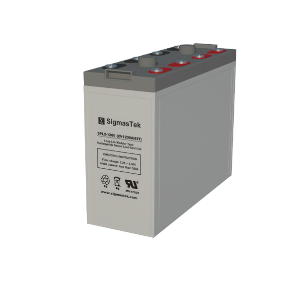 2 Volt 1200 Amp Hour Sealed Lead Acid Battery Replacement with IT Terminals by SigmasTek SPL2-1200