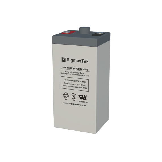 2 Volt 300 Amp Hour Sealed Lead Acid Battery Replacement with IT Terminals by SigmasTek SPL2-300