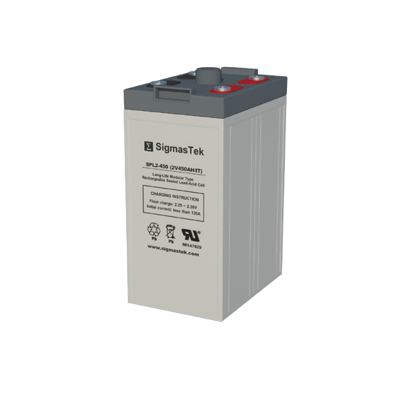 2 Volt 450 Amp Hour Sealed Lead Acid Battery Replacement with IT Terminals by SigmasTek SPL2-450