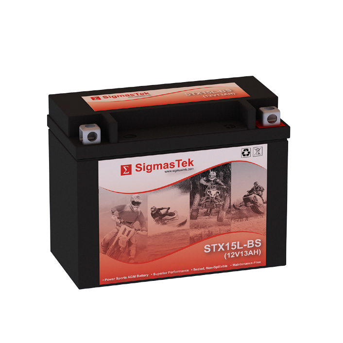 12 Volt 13 Amp Hour Sealed Lead Acid Battery Replacement with NB Terminals by SigmasTek STX15L-BS