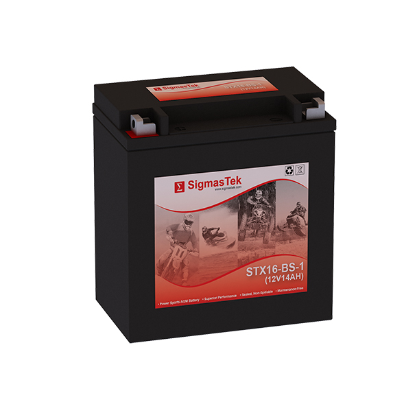 12 Volt 14 Amp Hour Sealed Lead Acid Battery Replacement with NB Terminals by SigmasTek STX16-BS-1